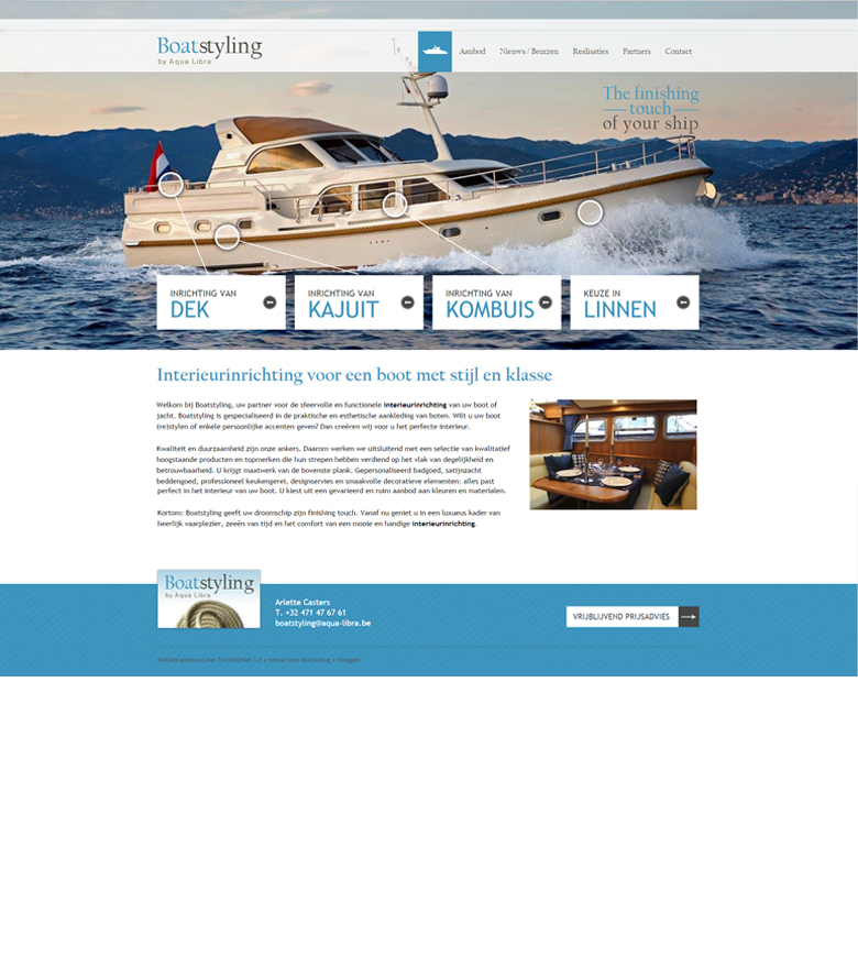Professionele website Boatstyling