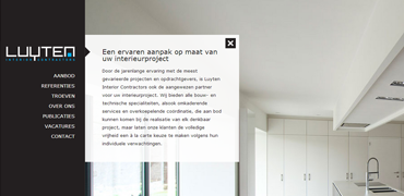 Professionele website voor Luyten Interior Contractors
