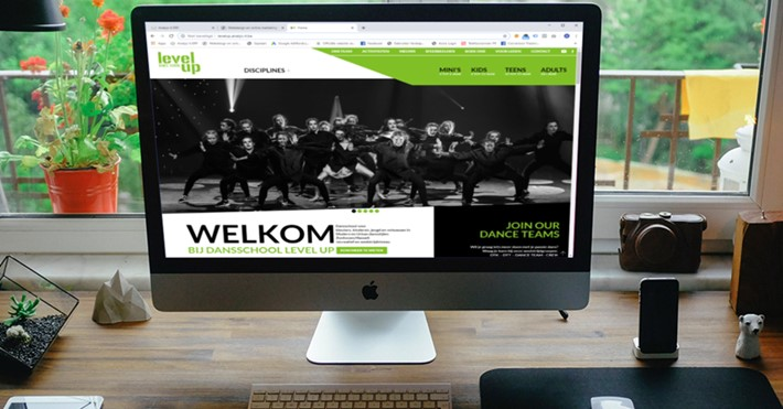 Professionele website voor Dance School Level Up