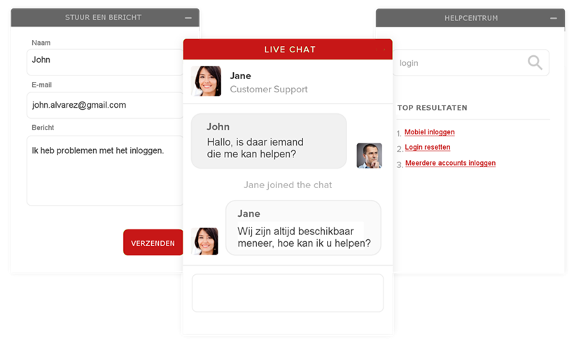 webshop met direct chat e-commerce platform analyz-it